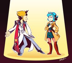 """squigglydigg: """" Quite possible one of my favorite commissions to date, the stars of Mystery Skulls: Animated rendered in the style (and outfits!) of Ghost Trick characters! Mystery Skulls Comic, Character Art, Character Design, Lucas Arts, Hero Quotes, Old Shows, Art Reference Poses, Artsy, Princess Zelda"""