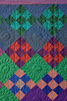 detail, Amish nine patch quilt | Stella Rubin Antiques.