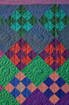 detail, Amish nine patch quilt | Stella Rubin Antiques.