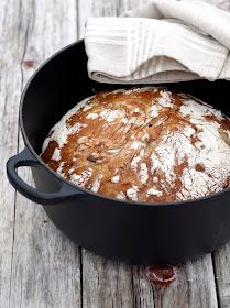 [kjøkkentjeneste]: No knead brød eller eltefritt brød Food And Drink, Bread, Make It Yourself, Baking, Dinner, Breakfast, Recipes, Happy, Bread Making