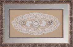 Use Larson Juhl's new #Harlow #frames as liners to accent family #heirlooms.  A beautiful, special touch!