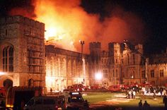 November 20 1992 – In England, a fire breaks out in Windsor Castle, causing over million worth of damage History Of England, British History, Windsor Castle Fire, Castle Burn, William The Conqueror, Royal Residence, Up In Smoke, 11th Century, Surrey