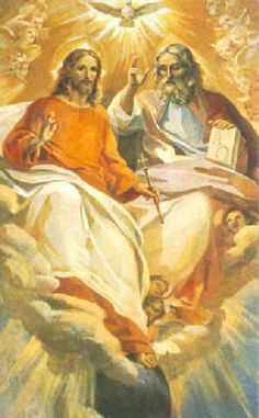 God and Jesus Christ Jesus And Mary Pictures, Pictures Of Jesus Christ, Religious Pictures, Catholic Art, Religious Art, Superman Artwork, Image Jesus, Saint Esprit, Jesus Painting