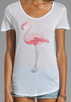 SHOW ME YOUR MUMU Graphic Walker Tee in Flamingo at Revolve Clothing - Franc!