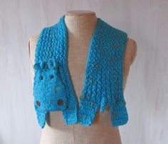 Small turquoise hippo Handmade soft scarf Crochet knit Animal For animals lovers Hippo scarf Children scarf Original unique funny warm - pinned by pin4etsy.com