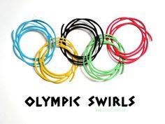 Vorfreude auf die Olympischen Spiele 2016 - Swirls aus den Thinlits Formen Wunderbar Verwickelt. #swirls #stampinup #card #olympic