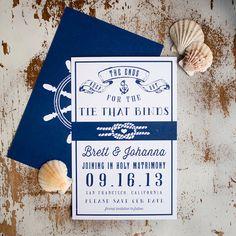 Rustic Wedding Nautical Save the Date Nautical di inoroutmedia