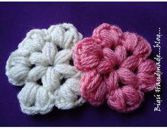 Bigú Handmade: Flor en Puff Stitch...