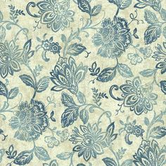 Lillian is such a pretty design, resembling a batik fabric with Jacobean ancestry. The medium sized flowers, about five inches, are printed in raised inks on a speckled field. The wallpaper finish loo