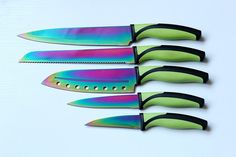 These knives that'll make your kitchen the prettiest place in your home. | 36 Irresistibly Pretty Iridescent Products