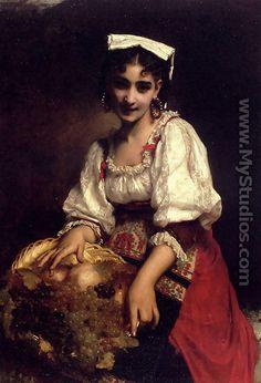 """""""An Italian Beauty""""- Etienne Adolphe Piot"""
