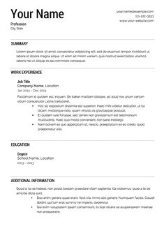 resume templates - Build Free Resume Online