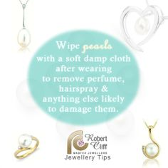 #JewelleryTips: Maintain the beauty of your #pearls with this #jewellerycare tip #jewelrytips #jewelcrycare #jewellerylover #jewellery #gems #jewels