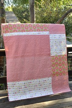 I love this idea for quilt backing!