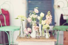 Styled Shoot: 1950s Love Story Simple Pink Floral Arrangements by Daane Studios | Done Brilliantly