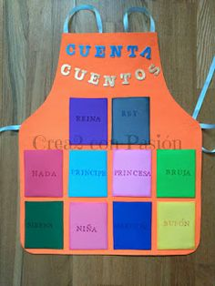 Crea2 Con Pasión: Goma eva, Aprendiendo de Todo un Poco Sharpie, Ideas Para, Apron, Language, Farmhouse Rugs, Hampers, Teaching Aids, Aprons, Jelly Beans