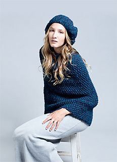 Free pattern on Ravelry Alpine Cape and Beret