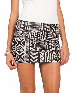 tribal miniskirt