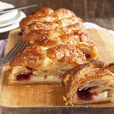 A Simple Strawberry and cheese strudel recipe, this flaky pastry is a delicious treat.. Cheese and Strawberry Strudel Recipe from Grandmothers Kitchen.