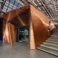 "Studio d'enregistrement "" tout cuivre"" de Red Bull à Berlin / Red Bull's copper music studio in Berlin #Gocopper #Copper #Cuivre #Musique #Redbull"