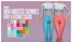 My Sims 4 Blog: High Waisted Skinnies Recolors for Females