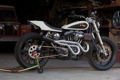 High performance Harley street tracker by Tin Shack Restoration
