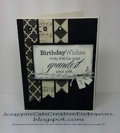 Masculine Birthday Card Inspired By Pinterest