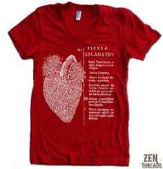 Women's Vintage ANATOMICAL HEART t shirt american apparel  S M L XL (17 Colors Available) on Etsy, $18.00