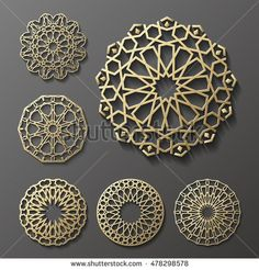 Find Islamic Ornament Vector Persian Motiff stock images in HD and millions of other royalty-free stock photos, illustrations and vectors in the Shutterstock collection. Thousands of new, high-quality pictures added every day. Motifs Islamiques, Islamic Motifs, Islamic Art Pattern, Arabic Pattern, Persian Motifs, Pattern Art, Arabesque, Hand Logo, Arte Linear
