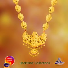 Are you interested wearing unique type of jewel sets then here is Naagas collection for you from #LalithaaJewellery.
