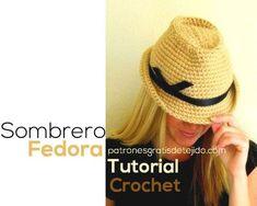 clase magistral en video en español y en inglés sombrero Fedora 3f0f2abe8c6