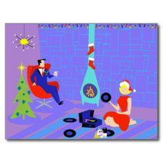 Mid Century Modern Cartoon Couple Cards & Invitations | Zazzle.co.uk