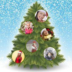 Julgran med bollar i 6 personer