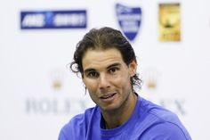 Rafa-Shanghai 2015-Rafael Nadal of Spain speaks at a press conference after winning.