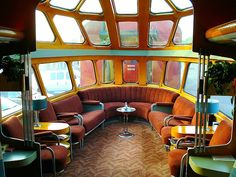 Milwaukee Road 261 Skytop Observation Lounge Car . . . To think we gave up all of this for flying in cramped airliners!!!