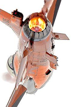 F-16 afterburner on!