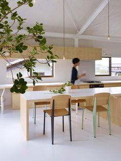 House in Yoro: an architectonic metamorphosis - Japanese Architecture, Small Houses Japanese Architecture, Interior Architecture, Interior And Exterior, Japanese Kitchen, Japanese House, Minimalist Interior, Minimalist Living, Minimalist Office, Piscina Rectangular