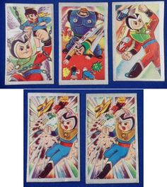 1960's Prince Planet (Yuusei Shonen Papii) : Japanese Menko Cards - / vintage antique old art card