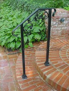 wrought iron railing for garden steps, cast iron elements