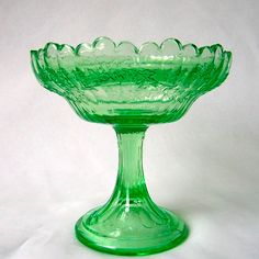 Northwood Glass Ivy Scroll  Victorian Jelly Compote Green Antique. $24.00, via Etsy.