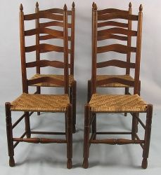1755 Queen Anne Fiddle Back Dining Chairs 1700 S