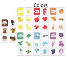 tarjetas infantiles, tarjetas imprimibles, tarjetas colores, colores infantiles, tarjetas aprendizaje infantiles, aprendizaje color