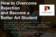To learn how to overcome rejection, stop asking why you got rejected. Instead, focus on how you can improve and become an even better artist!