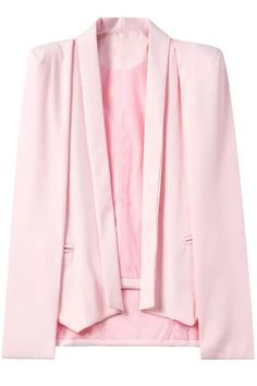 Shawl Neck Cape Design Pink Blazer