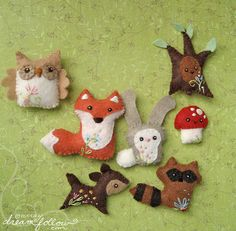 woodland animals..they're cute and at the moment really popular (make these)