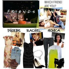 Apparently, I'm Monica! Which Friend Are You: Monica, Phoebe or Rachel?, created by polyvore-editorial on Polyvore
