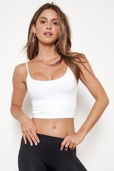 Seamless cami crop top. NOTE: If your size is not available, please register your email in EMAIL ME WHEN AVAILABLE link. Swag Outfits For Girls, Girls Fashion Clothes, Girly Outfits, Cute Outfits, Yoga Outfits, Teen Fashion, Summer Outfits, Casual Outfits, Fashion Outfits