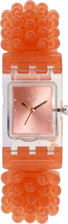 Swatch Women's Originals SUBK154B Orange Plastic Swiss Quartz Watch #Swatch #FashionWatches