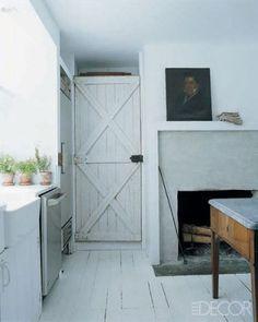 barn door in the kitchen - darryl carter