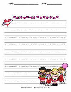 Valentine's Writing Paper Freebie!